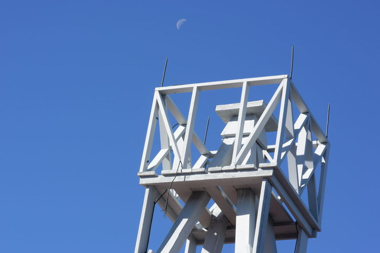Architecture Blue Clear Sky Moon Sulfur Mountain Trail Weather Station