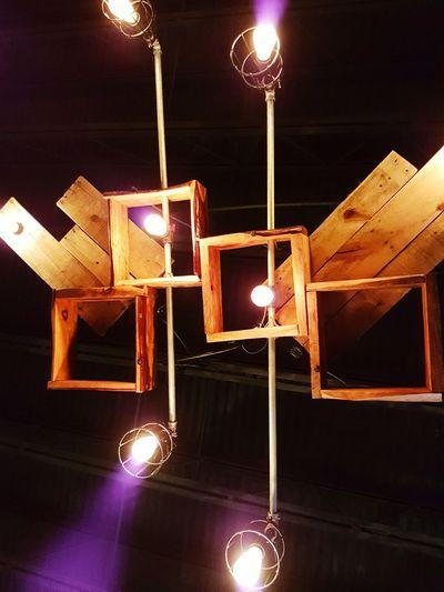 Illuminated Night No People Indoors  Ceiling Lights Ceiling Lamp