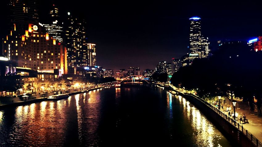 The beautiful view if Southbank. Yarra River City Lights Beautiful Melbourne