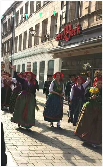 - enjoying to watch the various participating groups, mainly from franconian regions wearing traditional clothing Parades Enjoying Life Traditions Taking Photos