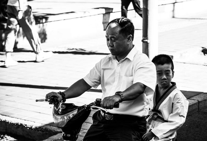 BEIJING北京CHINA中国BEAUTY Outdoors City Life Father And Son