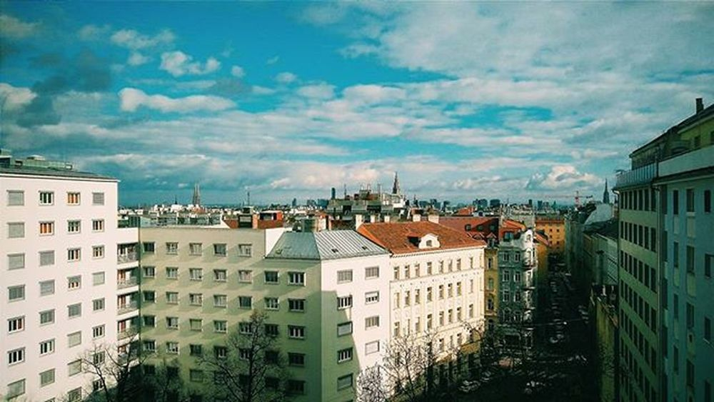 Vienna Wien Viewfrommyroom Colors Blue Sky City Austria Österreich Vienna_city View Viewfrommywindow