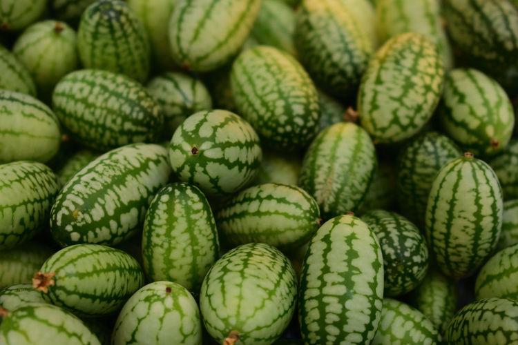 Full frame shot of mini cucumbers