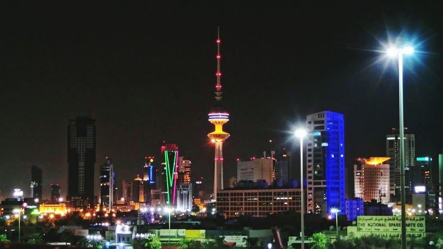 Cities At Night Kuwait Kuwaitcity