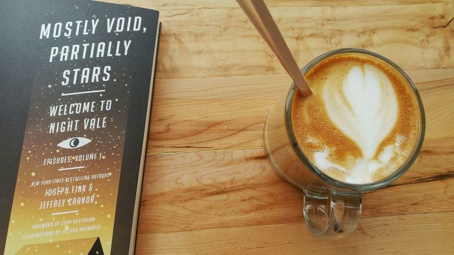 Food And Drink Table Drink Close-up Indoors  Drinking Coffee Art Book Wtnv Welcome To Night Vale Reading Latte Latte Art