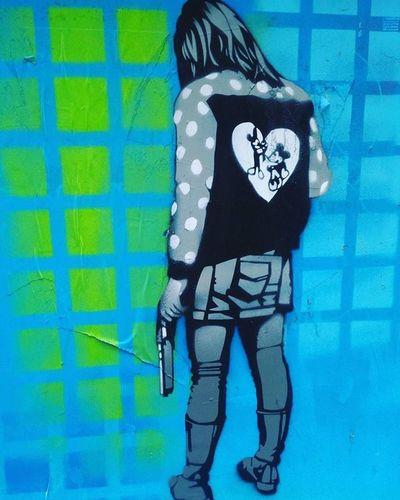 Barça street art Streetart Barça Ganggirl Gangstame