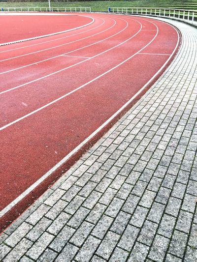 Empty sports track