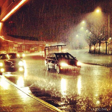 Thunder? Lightning? A downpour? In December? In Kansas City? Weird weather.