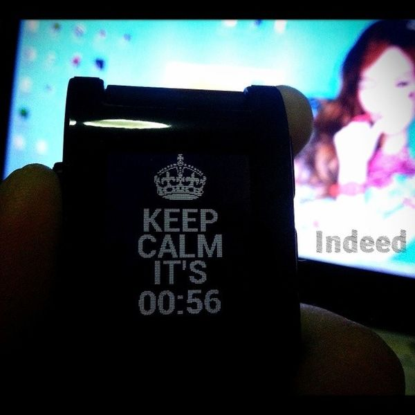 Keep calm, it's time :) Pebblewatch Pebble