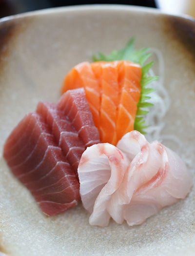 Sashimi - Raw fish slices Close-up Day Fish Food Freshness Healthy Eating Indoors  Japanese Food Japanese Food No People Plate Raw Food Ready-to-eat Salmon Salmon - Seafood Sashimi  Sashimi  Seafood Serving Size SLICE Still Life Sushi Tuna Food Stories