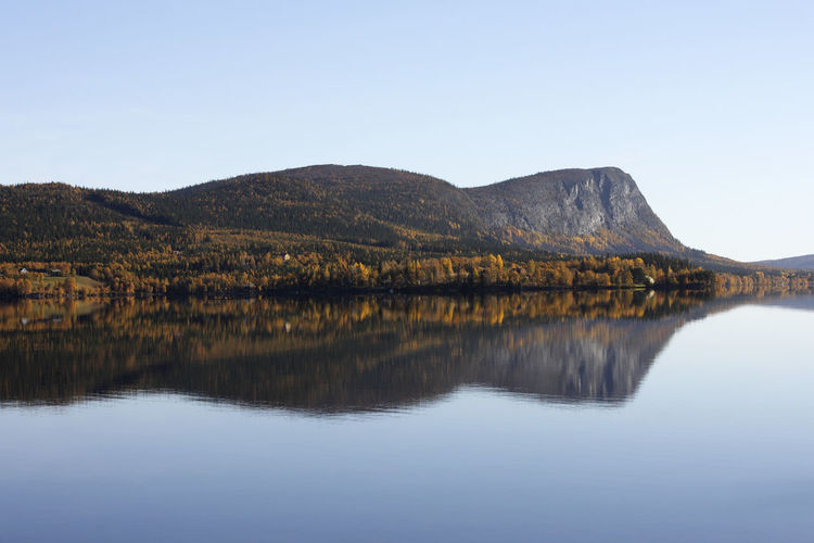 Reflection Water Lake Symmetry Mountain No People Scenics Outdoors Nature Sky Sweden Planet Earth Landscape Autumn Beauty In Nature Mountainrange