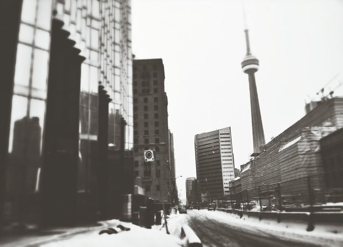 On my way to work. Hello from Toronto! T.O. Oneday