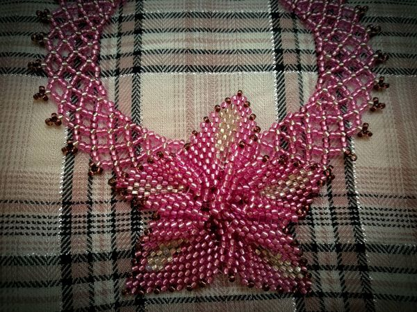 No People Pink Millennial Pink Handcraft Handmade Flower Lilly Necklace EyeEmNewHere Millennial Pink