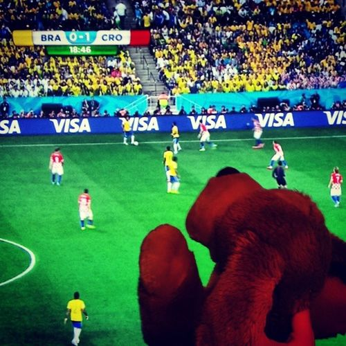 Watching the Worldcup :) Puppyontour Ohboyhowdy Brazil croatia soccer wm2014 weltmeisterschaft Puppy beagle stuffedanimals hipster sports football goal cute dogs picoftheday fifa uefa swagger swag epic instasoccer fussball