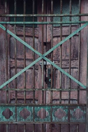 Door and gate. Old Doors Tarnished Wood Metal Vintage Antique Copper  Showcase: January