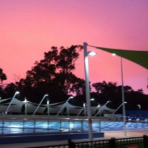 100happydays Day10 Myoffice Bestjob earlymornings greatwaytostarttheday swimmingpool sunrise