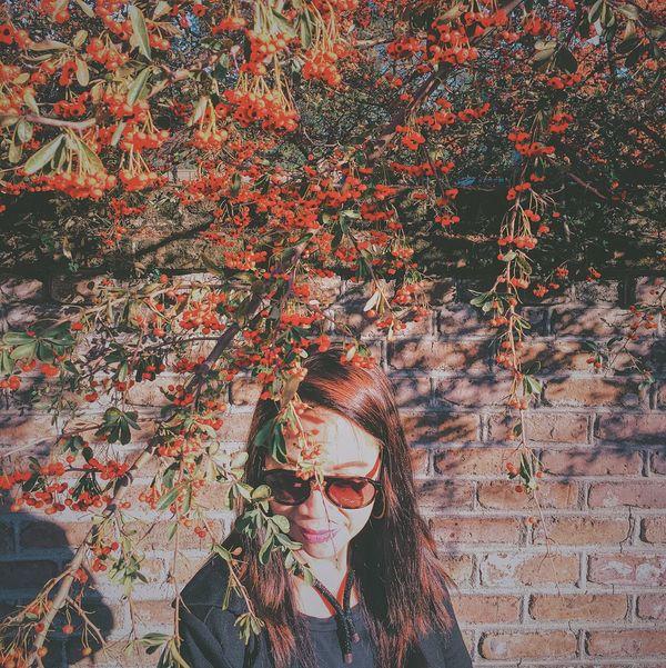 Mamaaaaa! Flowery Autumn Headshot Fall Colors