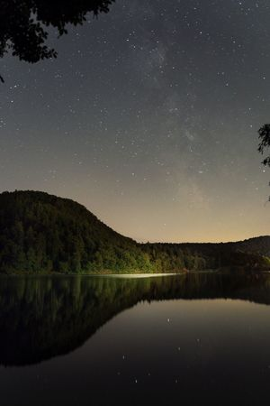 Night Star - Space Reflection Astronomy Beauty In Nature Lake Scenics Nature Sky Water Star Field Space Tranquility Tranquil Scene Outdoors Constellation No People Galaxy Milky Way