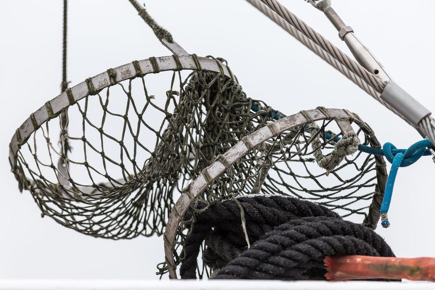 Clear Sky Close-up Day Fisher Net Fisherman Boat Fishing Net Low Angle View No People Outdoors Sky Sport