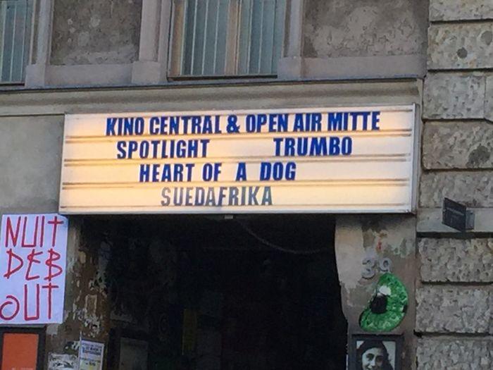 Cinema In Your Life Central Kino Berlin Hauptstadt Mitte Monday