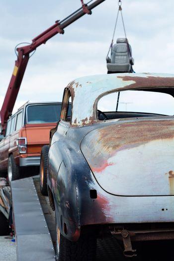Cars Oldtimer Transportation Mode Of Transportation Motor Vehicle Car Land Vehicle Sky Day Damaged Street Truck