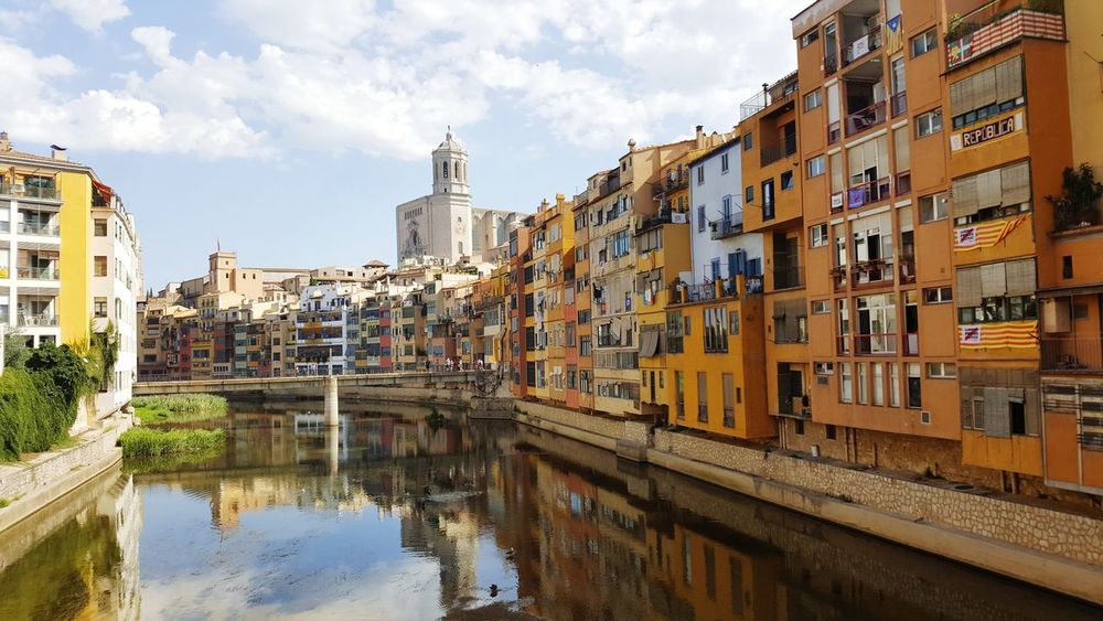 Catalonia <3 City Water Cityscape Apartment Bridge - Man Made Structure Reflection Business Finance And Industry Sky Architecture Building Exterior