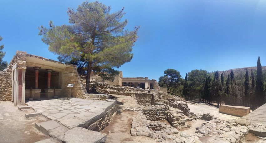 Minoan Architecture Archaeological Sites Ruins Greece Crete Knossos Palace Knossos
