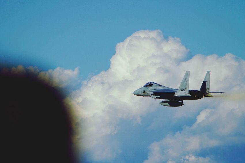 Airshow Iruma Air Base F-15 帰投するF-15
