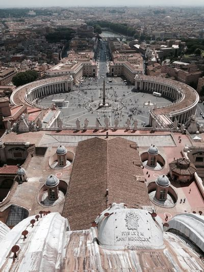 High Angle View Of St Peter Square And Basilica