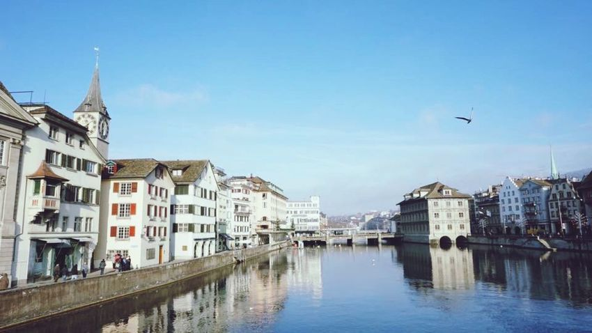 Building Exterior Architecture Built Structure Water Canal Waterfront Outdoors Sky City Travel Destinations Real People Day Lake View Lake Zürich Switzerland Miles Away