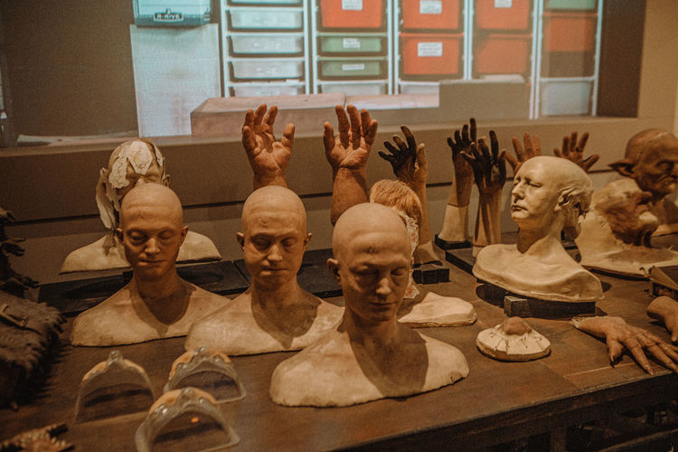 Statues in museum