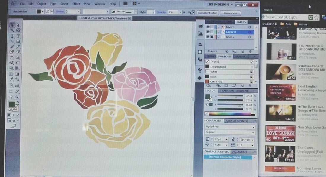 Rosé Pastel Illustrator Bossanova
