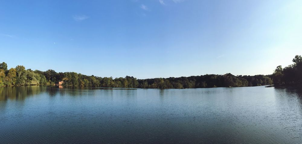 Lost In The Landscape Lake Water Beauty In Nature Nature Scenics Tranquil Scene Tree Tranquility No People Sky Clear Sky Waterfront Outdoors Day IPhoneography IPhone7Plus Panorama Iphonepanorama