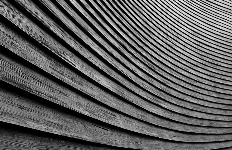 Ellipsis Abstract Backgrounds Building Façade Full Frame Minimalism Outdoors Pattern Wood Paneling Wooden