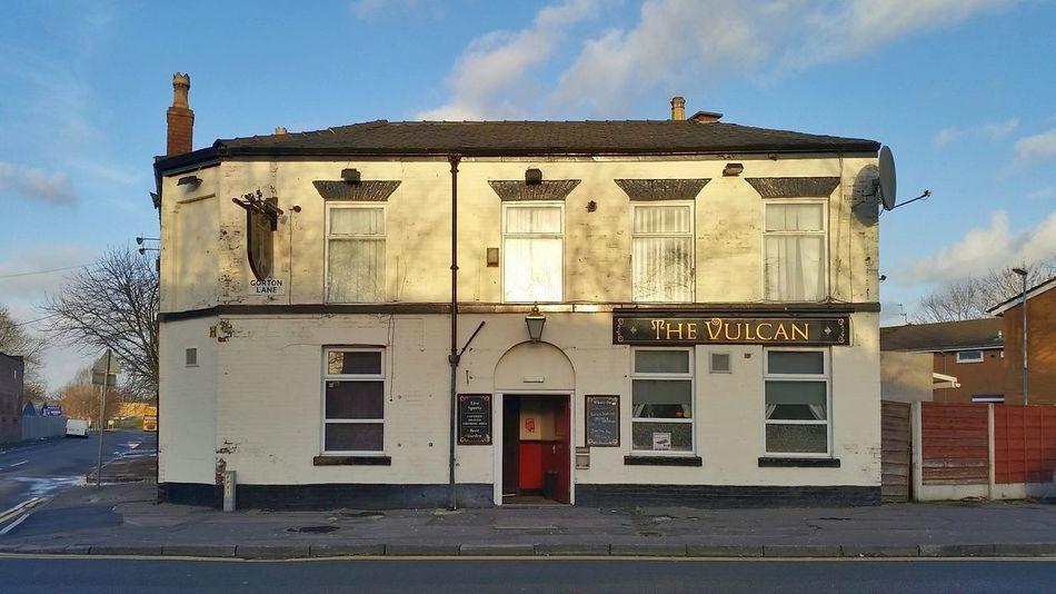 Manchester Gorton Pub The Vulcan Sunset