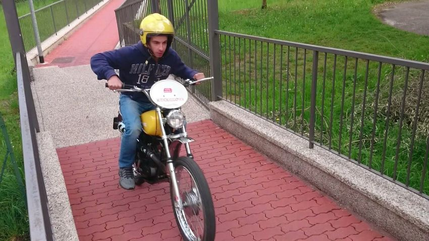 Me Motorbike Jump! Vintage Fun