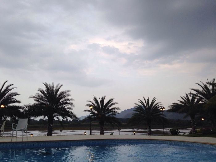 RainIsComing Swimming Pool Nature Water Palm Tree Sky Cloud - Sky Outdoors No People Beauty In Nature Tree Waterfront Day Happy :) Enjoying Life Sky And Clouds Weekend Activities