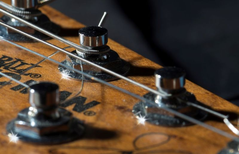 Macro Photography Makro Arts Culture And Entertainment Classical Music Close-up Day Gitarre Guitar High Angle View Indoors  Instrument Maker Macro Macro_collection Music Musical Instrument Musical Instrument String Musicman Musikinstrument No People Wood - Material