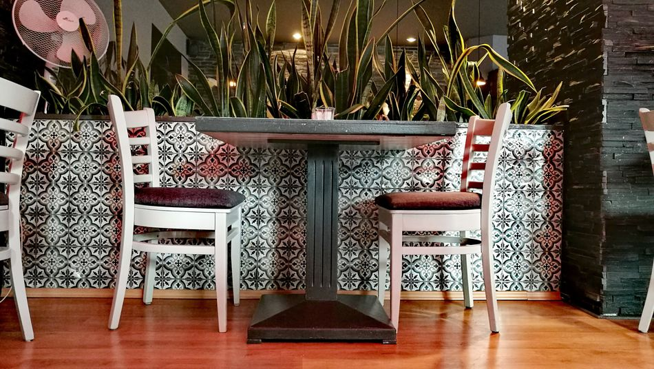Table And Chairs Tiling Art Cozy Place Berlin Prinzregentenstraße Two Is Better Than One My Favorite Place In A Restaurant Chance Encounters