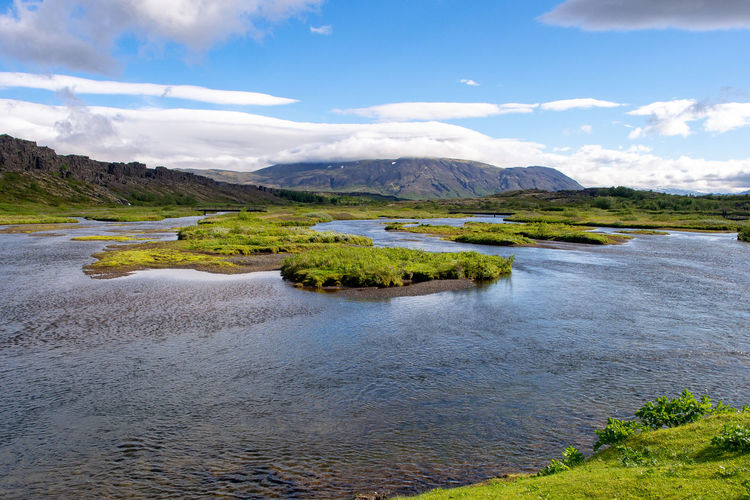 Outdoors Landscape Nature Water Scenics - Nature Lake Environment Tranquil Scene Beauty In Nature Mountain Sky Idyllic Iceland þingvellir Thingvellir National Park Thingvellir Þingvellir National Park Travel Destinations Golden Circle Travel No People Grass Tranquility