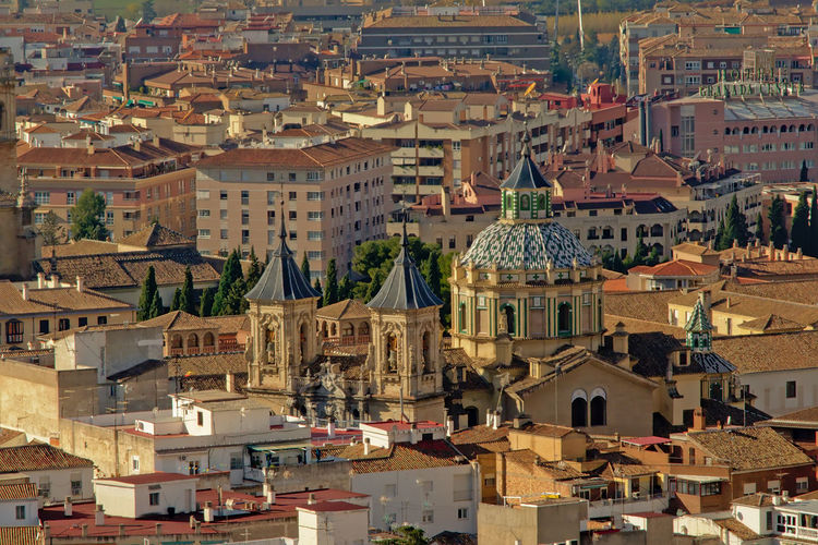 Aerial view on San Juan de Dios church, Granada, Spain Granada SPAIN Church Cupola Dome Tower San Juan De Dios Aerial View Roof High Angle View Town Cityscape Residential District TOWNSCAPE Urban History Worshsip Landmark Monument Heritage City Architecture Outdoors Building Building Exterior