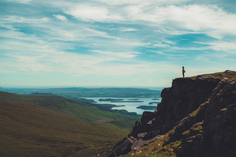 🏞️ My Best Travel Photo Scotland Beauty In Nature Ben Lomond Cliff Cloud - Sky Landscape Mountain Scenics - Nature Scottish Highlands Sky A New Beginning