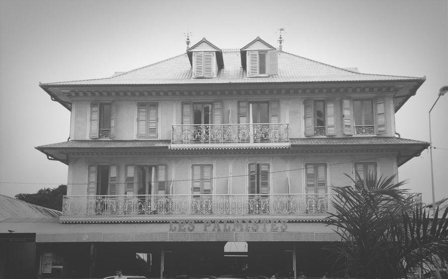 French Guiana Bar Blackandwhite Vintage
