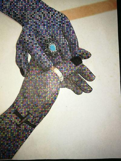 Creative side Artistic Color Pattern Hands At Work Drawn Skillset