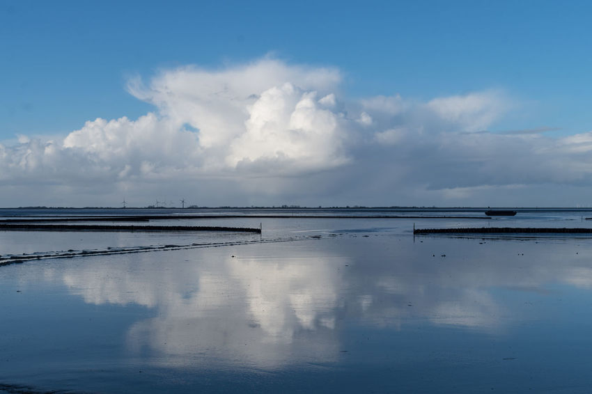 Nordsee. Beauty In Nature Cloud - Sky Day Horizon Over Water Nature No People Outdoors Reflection Scenics Sea Sky Tranquil Scene Tranquility Water