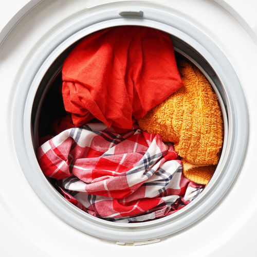 Washing Machine No People Indoors  Close-up Appliance Laundry Household Equipment Circle Cleaning Open Hygiene Washing Lifestyles Washer Front-loading Colors Colored Washables Launder Housework Housekeeping