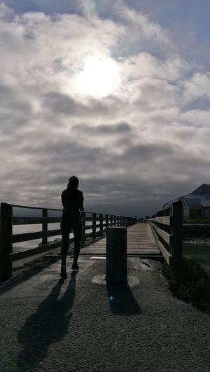 Beach People Outdoors One Person Running Run Bridge Sun Sunrise Morning Sun Morning Run Morning Run ♥