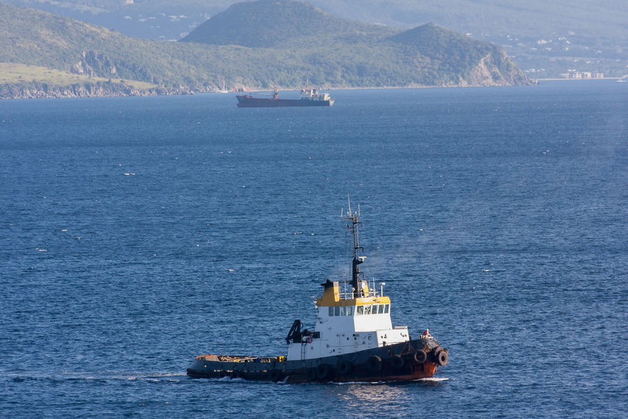 TUGBOAT HEADING TO WORK Harbour Working Boat Ferry Freight Transportation Mode Of Transport Nautical Vessel Outdoors Sailing Scenics Sea Shipping  Transportation Tugboat Water