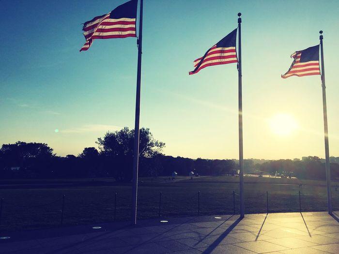 Fluttering American Flag