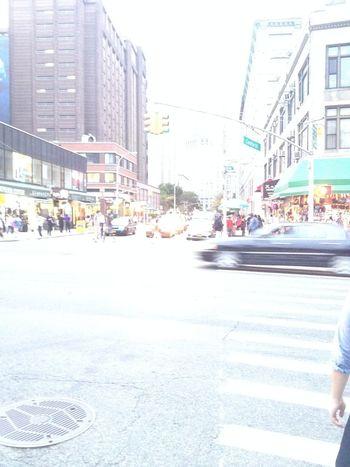 Black Car Car City Street Manhattan Overexposed Overexposure People Street Zebra Crossing